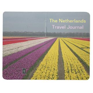 Diário O jornal do destino do viagem de Netherland
