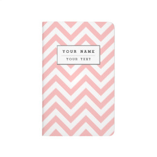 Diário O ziguezague cor-de-rosa e branco listra o teste