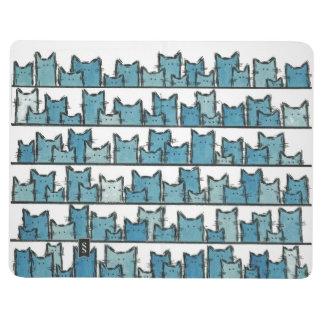 Diário Os gatinhos não me fazem o jornal azul do bolso