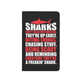 Diário Palavras inspiradores - seja um tubarão