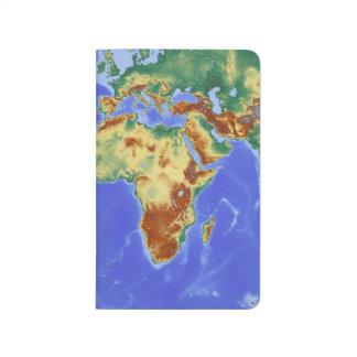 Diário Papel alinhado interior do roxo do mapa do mundo