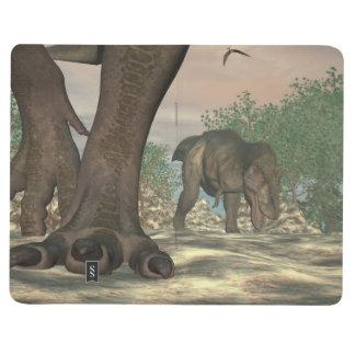 Diário Pés do dinossauro do rex do tiranossauro - 3D