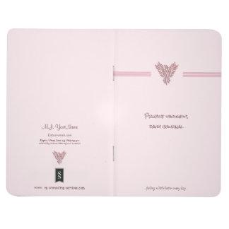 Diário Phoenix de aumentação cor-de-rosa que aconselha o