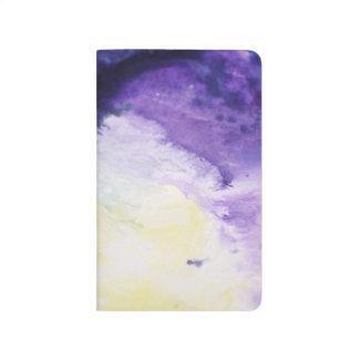Diário Pintura amarela azul feliz calma do abstrato do
