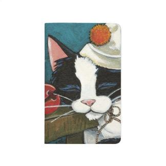 Diário Pintura do palhaço do gato do smoking do sono