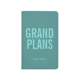 Diário Planos grandes personalizados do texto tipográfico