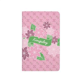 Diário Quimono cor-de-rosa de Japão da bandeira do verde