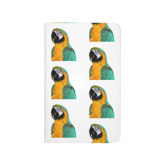 Diário retrato colorido do pássaro do papagaio do macaw