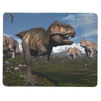 Diário Rex do tiranossauro atacado pelo dinossauro do
