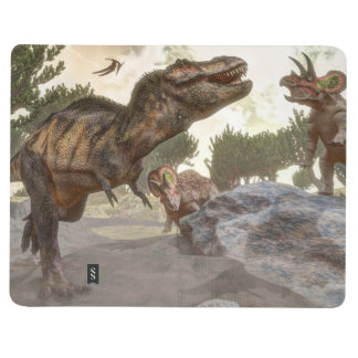 Diário Rex do tiranossauro que escapa do ataque do