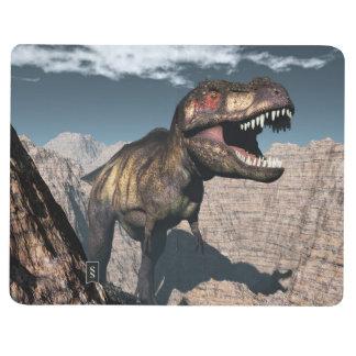 Diário Rex do tiranossauro que ruje em uma garganta