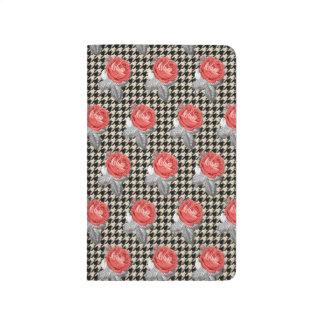 Diário Rosas do vintage e teste padrão cor-de-rosa do