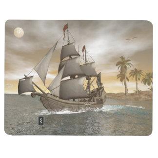 Diário Sair do navio de pirata - 3D render.j