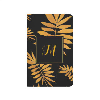 Diário Samambaia de ouro Glam - monograma