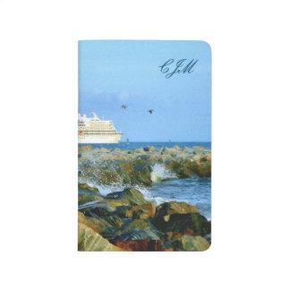 Diário Seascape com o navio de cruzeiros Monogrammed