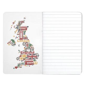 Diário Símbolos do mapa de Inglaterra