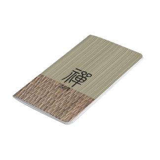 Diário Tatami chinês da verde azeitona da caligrafia do