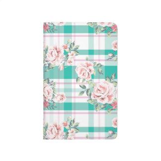 Diário Teste padrão cor-de-rosa das flores bonitas do