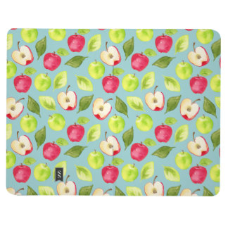 Diário Teste padrão das maçãs da aguarela
