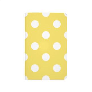 Diário Teste padrão de bolinhas amarelo