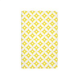 Diário Teste padrão de bolinhas amarelo e branco moderno