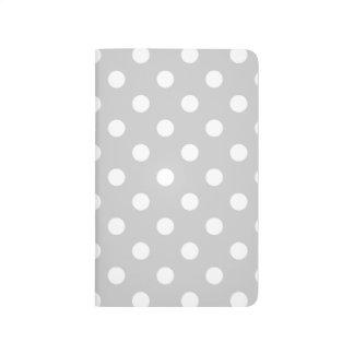 Diário Teste padrão de bolinhas cinzento