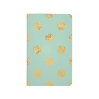Diário Teste padrão de bolinhas elegante da folha de ouro