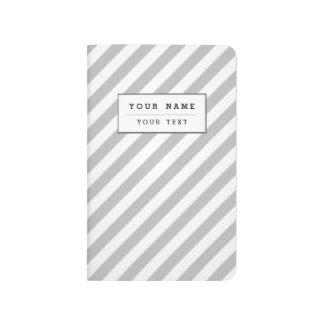 Diário Teste padrão diagonal do cinza e o branco das