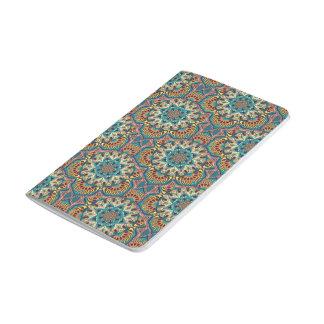 Diário Teste padrão floral étnico abstrato colorido da