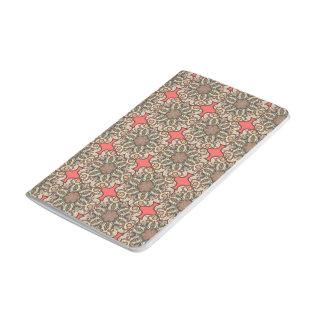 Diário Teste padrão floral étnico abstrato colorido de da