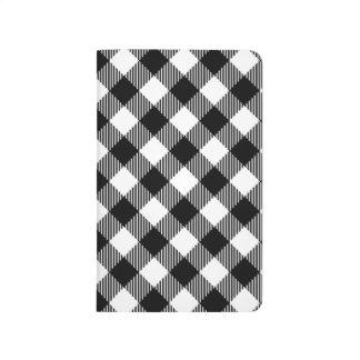 Diário Teste padrão preto e branco moderno do guingão da
