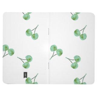 Diário Teste padrão verde da cereja