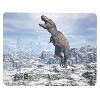Diário Tiranossauro na neve - 3D rendem