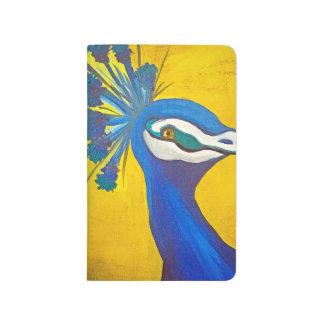 Diário Turquesa e pavão amarelo