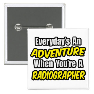 Diário uma aventura. Técnico de radiologia Bóton Quadrado 5.08cm