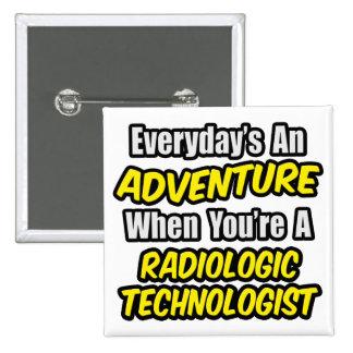 Diário uma aventura. Tecnologia radiológica Bóton Quadrado 5.08cm