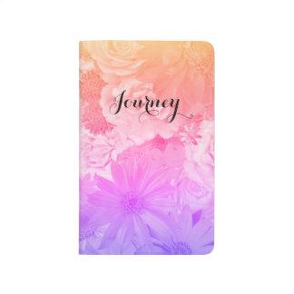 Diário Viagem floral Pastel de Boho das flores do por do