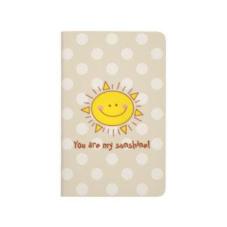 Diário Você é meu dia ensolarado do smiley bonito feliz