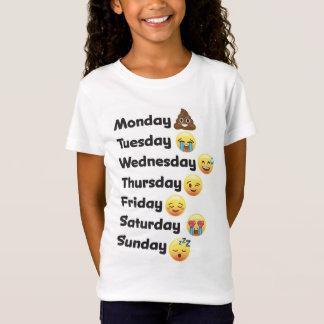 Dias de Emoji da camisa da semana