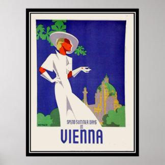 Dias de verão no impressão de Viena