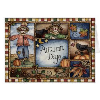 Dias do outono - cartão