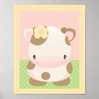 Diddles o impressão da arte da MOO-Vaca