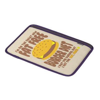 Dieta livre de gordura do hamburguer bolsa de MacBook air