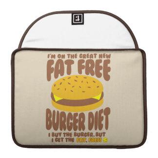 Dieta livre de gordura do hamburguer bolsa MacBook pro