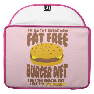 Dieta livre de gordura do hamburguer bolsa para MacBook pro