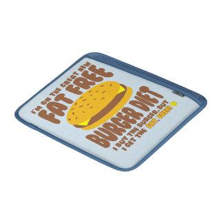 Dieta livre de gordura do hamburguer bolsas de MacBook