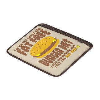 Dieta livre de gordura do hamburguer bolsas de MacBook air