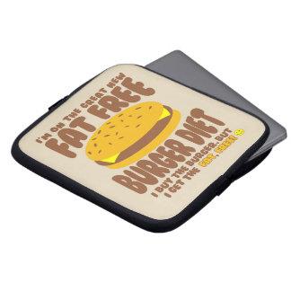 Dieta livre de gordura do hamburguer capa de notebook