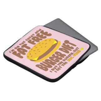 Dieta livre de gordura do hamburguer capa para notebook