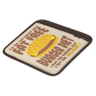 Dieta livre de gordura do hamburguer capas para iPad